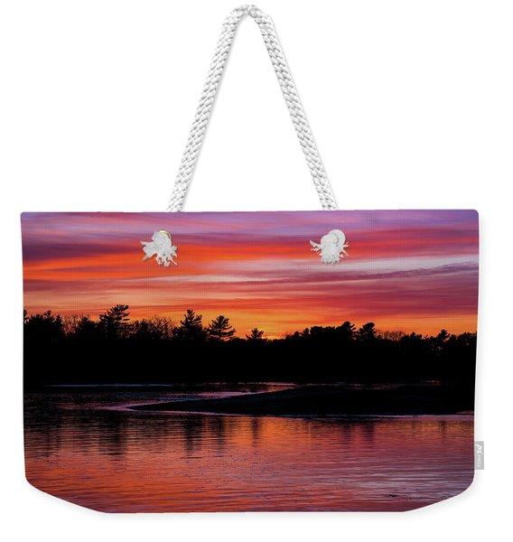 Odiorne Point Sunset Weekender Tote Bag