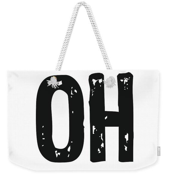 Oh - Minimal Wall Decor Print Weekender Tote Bag