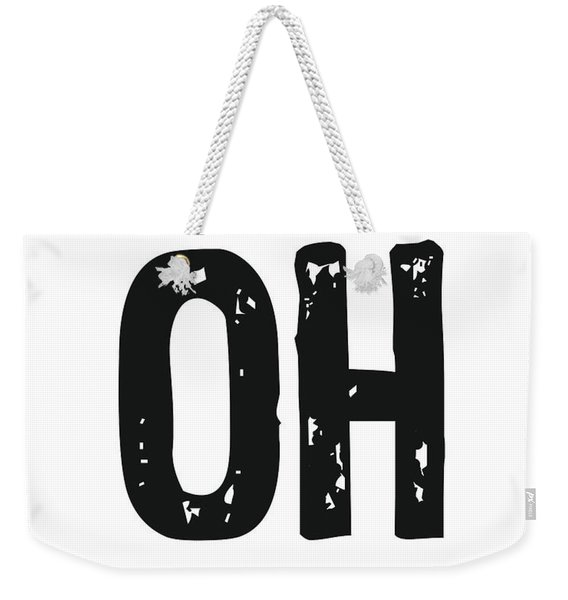 Oh - Minimal Wall Decor Print Weekender Tote Bag