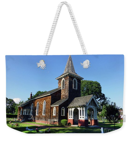 Old Grace Church Massapequa  Weekender Tote Bag