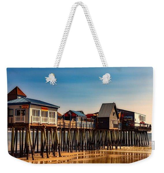Old Orchard Beach Pier Weekender Tote Bag