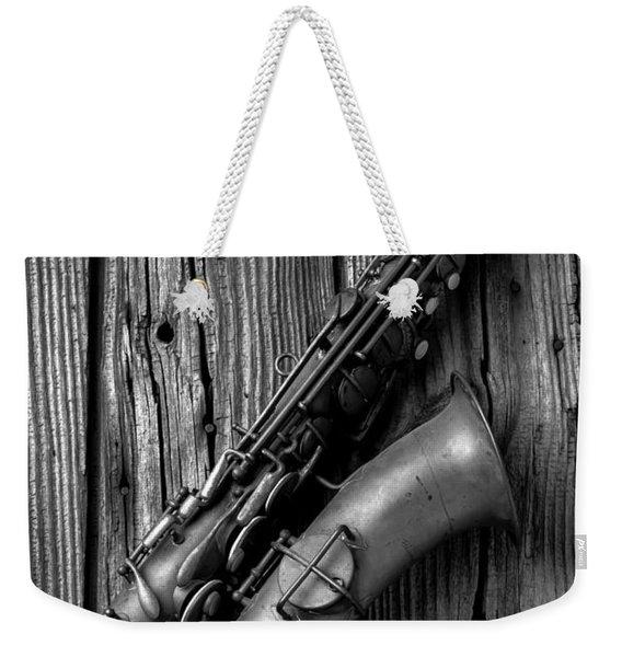 Old Sax Weekender Tote Bag