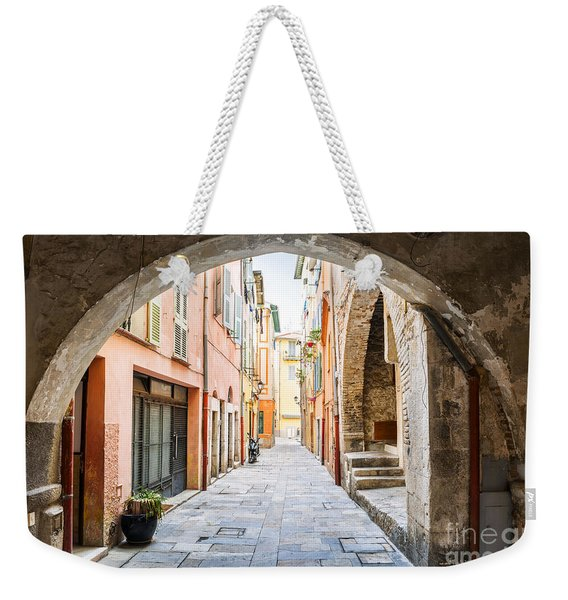 Old Street In Villefranche-sur-mer Weekender Tote Bag