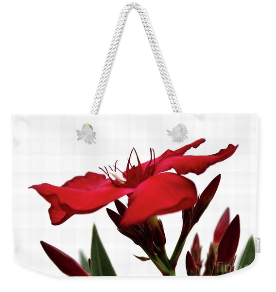 Oleander Blood-red Velvet 3 Weekender Tote Bag