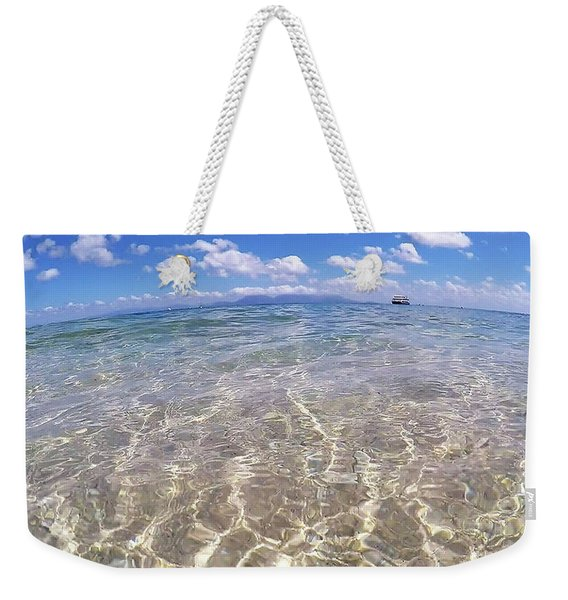 Weekender Tote Bag featuring the photograph On The Horizon by Debbie Cundy