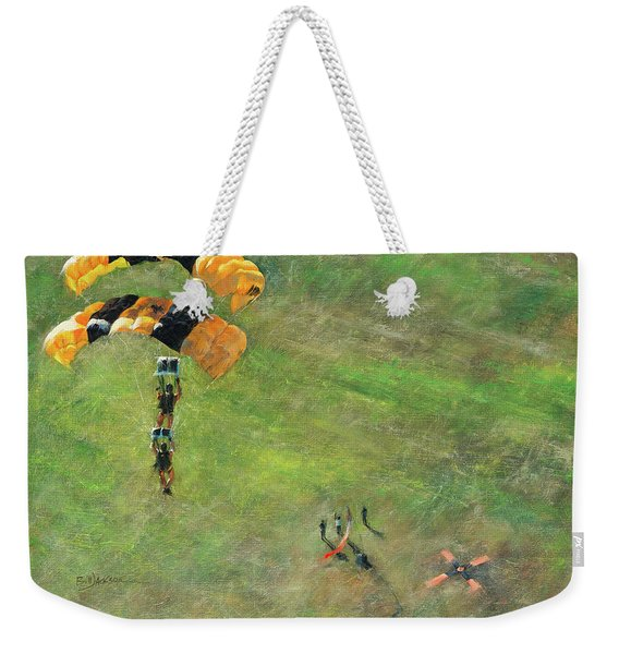 Out Of The Gold Weekender Tote Bag