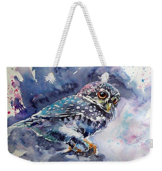 Owl At Night Weekender Tote Bag