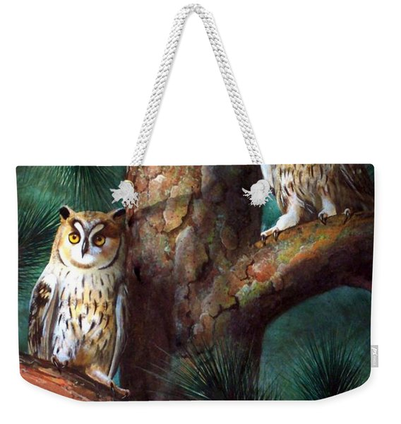 Owls In Moonlight Weekender Tote Bag