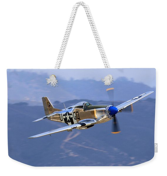 P51d Mustang At Salinas Weekender Tote Bag
