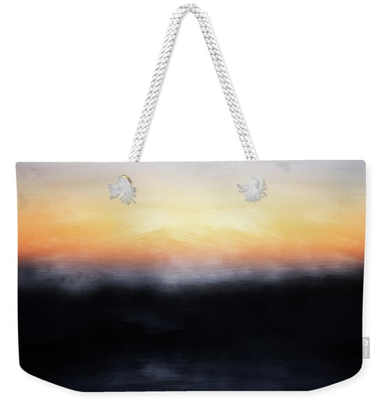 Pacific Sunset- Abstract Art By Linda Woods Weekender Tote Bag