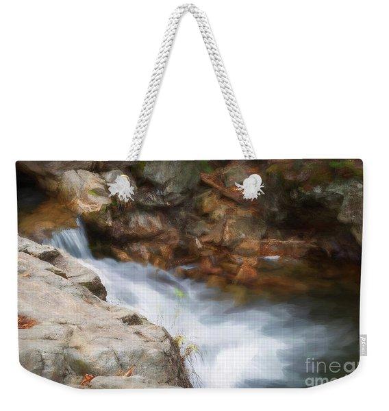 Painted Stream Weekender Tote Bag
