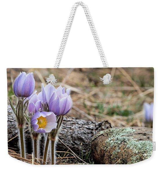 Pasque Flower Weekender Tote Bag