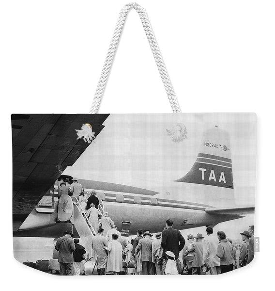 Passengers Boarding Airplane Weekender Tote Bag