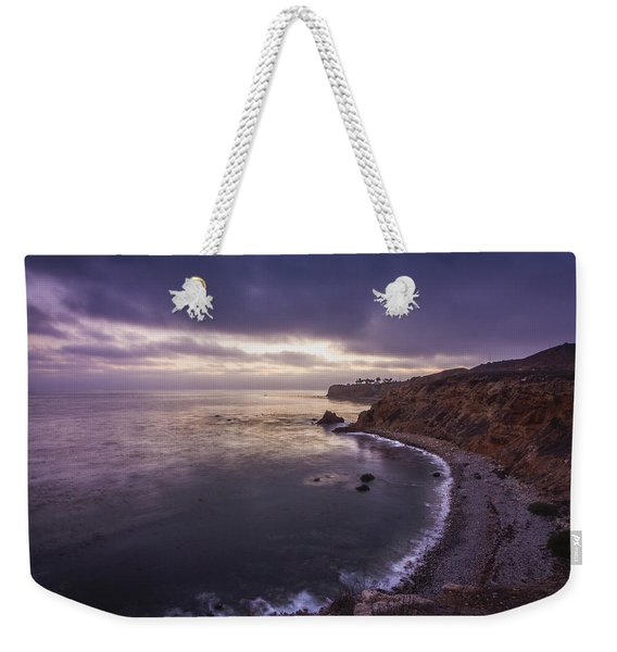 Weekender Tote Bag featuring the photograph Pelican Cove After Sunset by Andy Konieczny