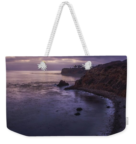 Weekender Tote Bag featuring the photograph Pelican Cove And Point Vicente After Sunset by Andy Konieczny