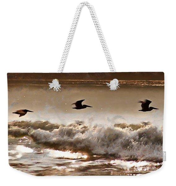 Pelican Patrol Weekender Tote Bag