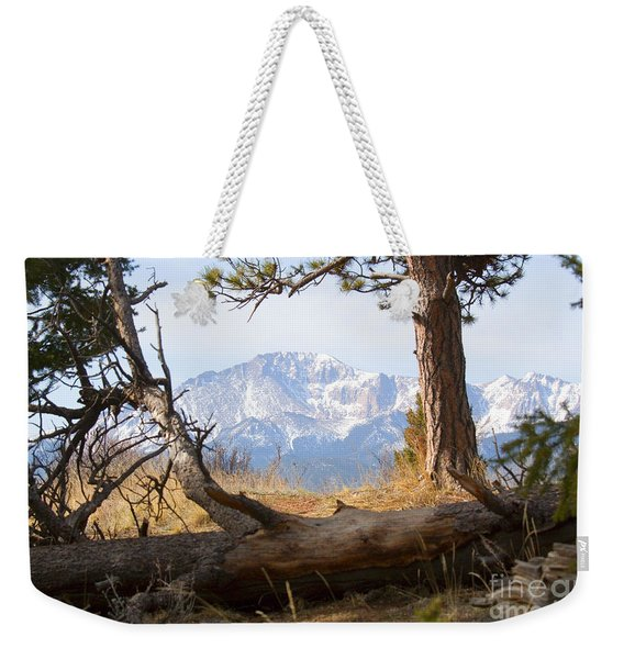 Pikes Peak And Trail To Bald Mountain Weekender Tote Bag
