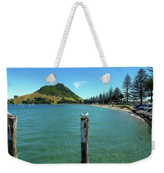 Pilot Bay Beach 1 - Mt Maunganui Tauranga New Zealand Weekender Tote Bag