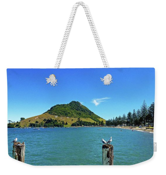 Pilot Bay Beach 2 - Mount Maunganui Tauranga New Zealand Weekender Tote Bag