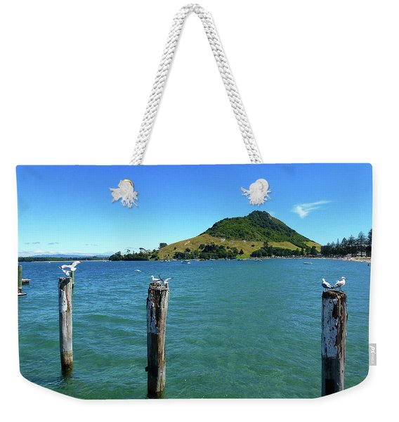 Pilot Bay Beach 3 - Mt Maunganui Tauranga New Zealand Weekender Tote Bag