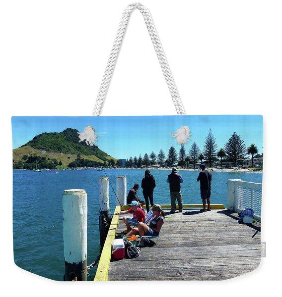 Pilot Bay Beach 7 - Mt Maunganui Tauranga New Zealand Weekender Tote Bag