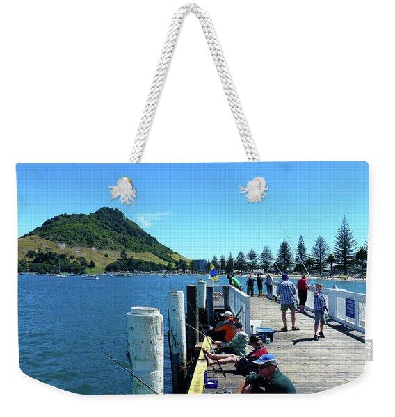 Pilot Bay Beach 8 - Mount Maunganui Tauranga New Zealand Weekender Tote Bag