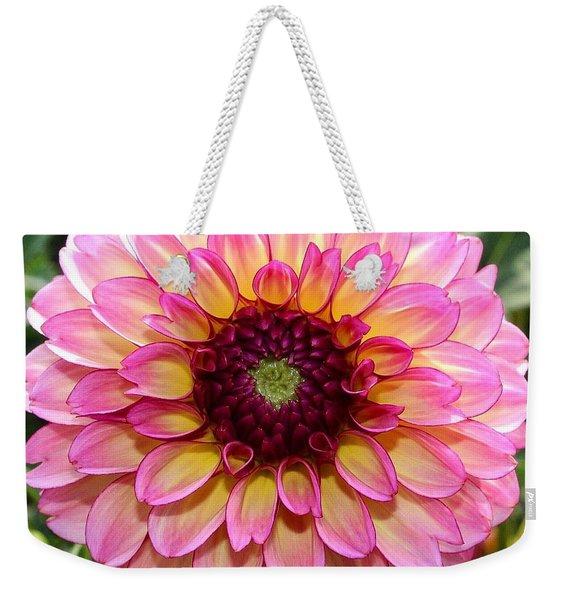 Pink Dahlia Weekender Tote Bag