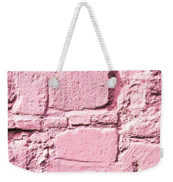 Pink Wall Weekender Tote Bag