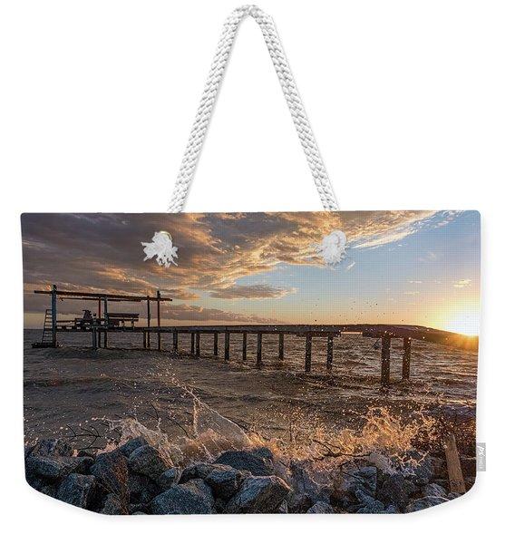 Portersville Bay Sunset Weekender Tote Bag