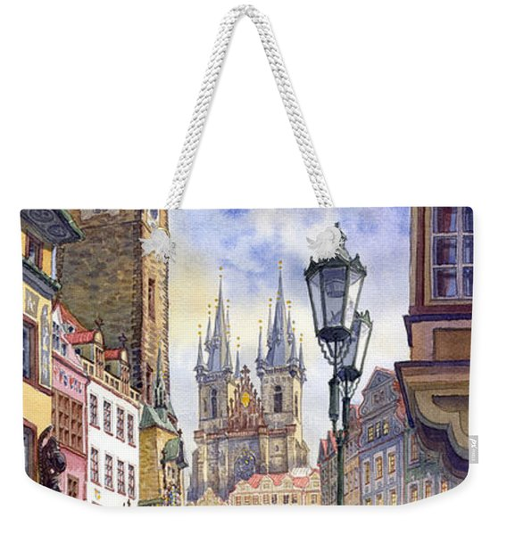 Prague Old Town Square 01 Weekender Tote Bag