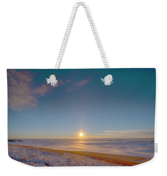 Prairie Winter Sunset Weekender Tote Bag