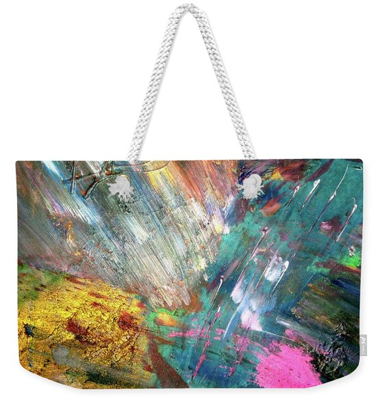 Weekender Tote Bag featuring the painting Prana by Michael Lucarelli