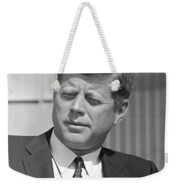 President John Kennedy Weekender Tote Bag