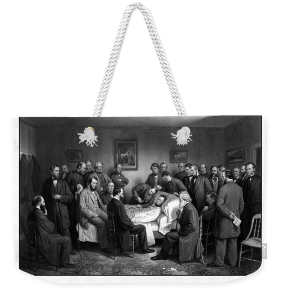 President Lincoln's Deathbed Weekender Tote Bag