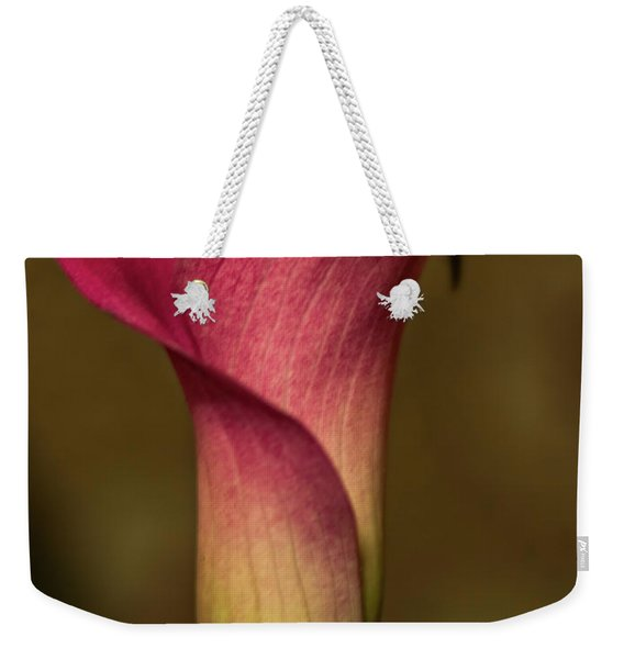 Weekender Tote Bag featuring the photograph Pretty In Pink by Robin Zygelman