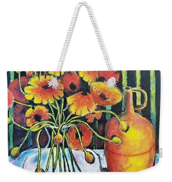 Pretty Poppies Weekender Tote Bag