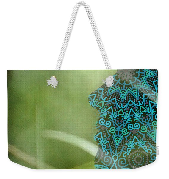 Profile Portrait Of Young Beautiful Woman. Weekender Tote Bag