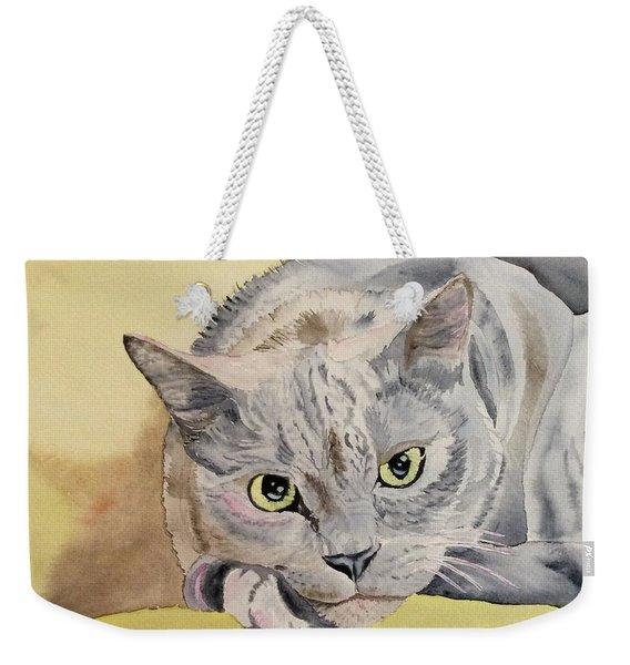 Puss Off Weekender Tote Bag