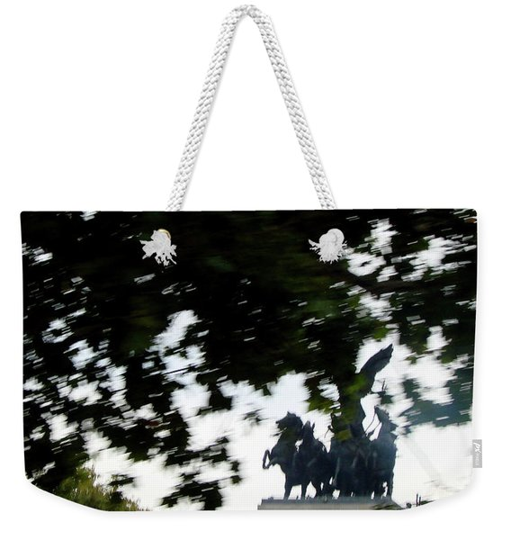 Quadragia Atop Wellington Arch, London Weekender Tote Bag