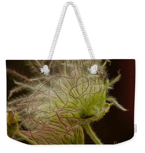 Quirky Red Squiggly Flower 3 Weekender Tote Bag