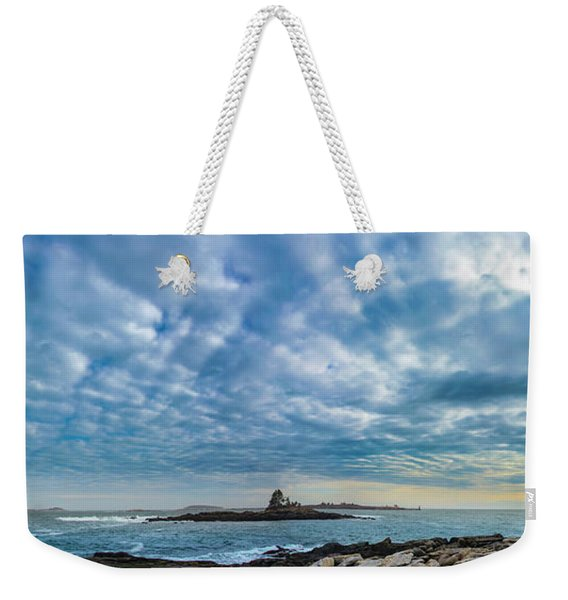 Ram Island Light Weekender Tote Bag
