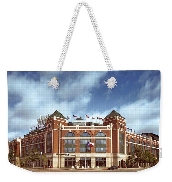 Rangers Ballpark In Arlington Weekender Tote Bag