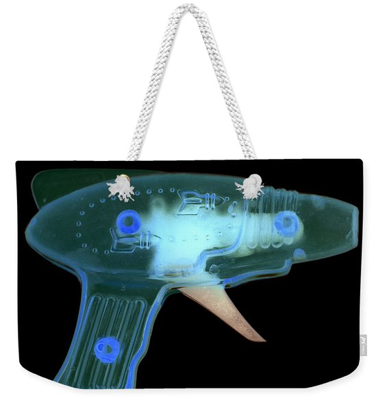Weekender Tote Bag featuring the photograph Ray Gun by Clayton Bastiani
