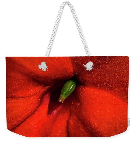 Red And Green Weekender Tote Bag