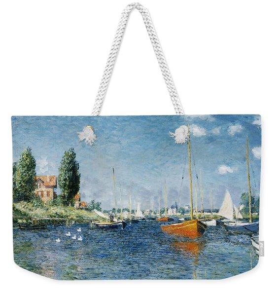 Red Boats, Argenteuil Weekender Tote Bag