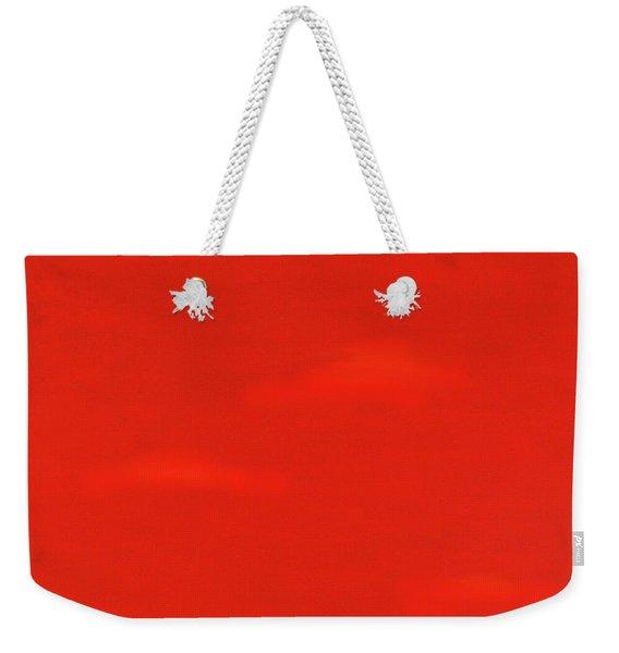 Red Impression Weekender Tote Bag