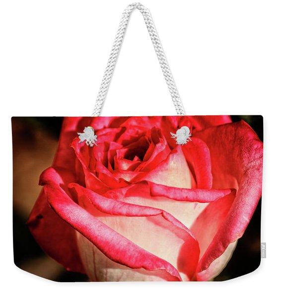 Red Rose Bud Weekender Tote Bag