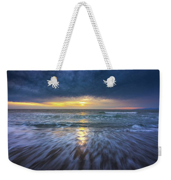 Weekender Tote Bag featuring the photograph Redondo Beach Sunset by Andy Konieczny