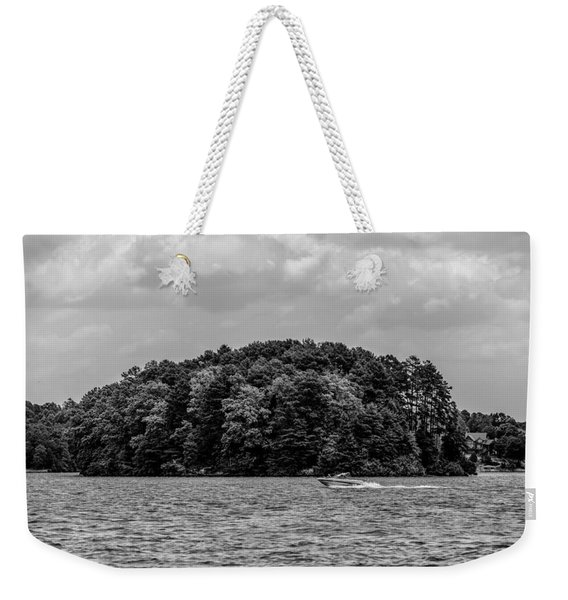 Relaxing On Lake Keowee In South Carolina Weekender Tote Bag