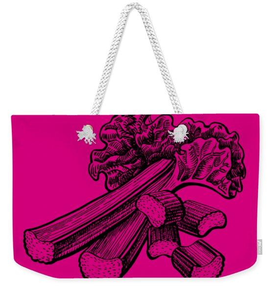 Rhubarb Stalks Weekender Tote Bag